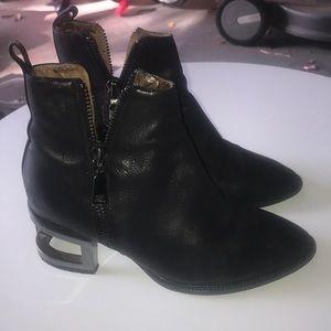 Ibiza Jeffrey Campbell black leather booties 8M **